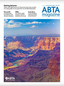 ABTA Magazine cover - the Grand Canyon