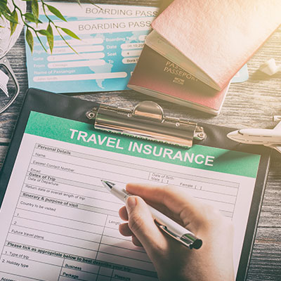 passport and travel insurance