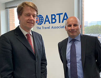 Robin Walker MP, the Parliamentary Under Secretary of State for Exiting the European Union, with ABTA CEO, Mark Tanzer