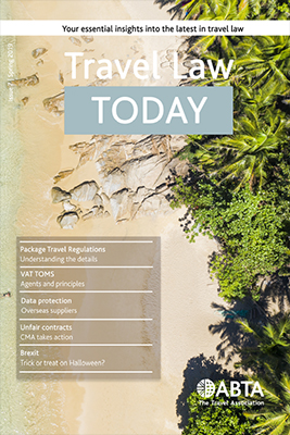 Travel Law Today - Spring 2019 cover