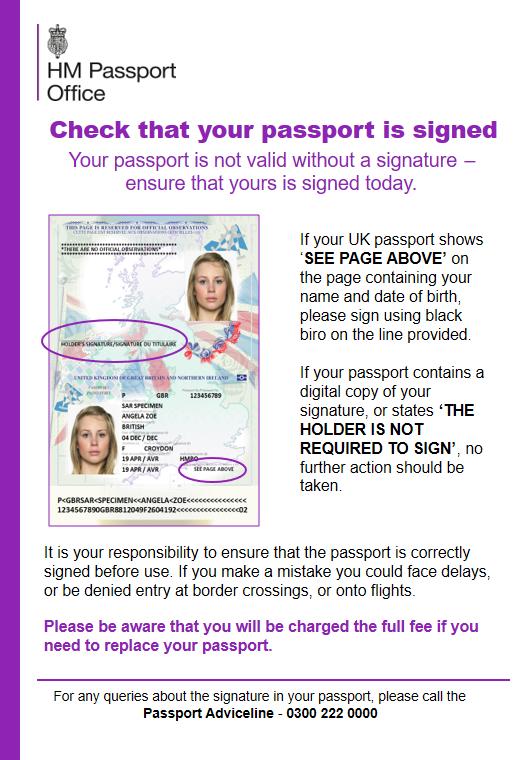 Signing Passports   Where to Sign a Passport   ABTA
